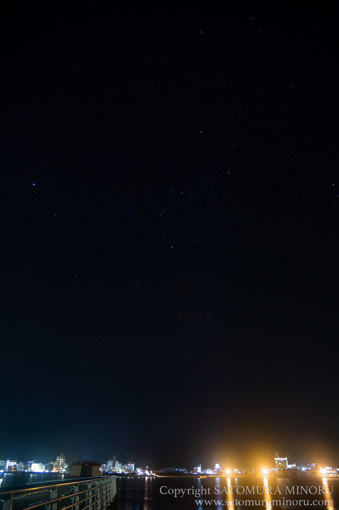 名瀬の夜景と星